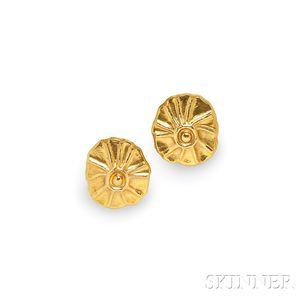 18kt Gold Earclips, Lalaounis