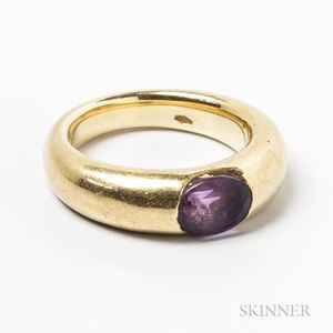 18kt Gold and Amethyst Ring