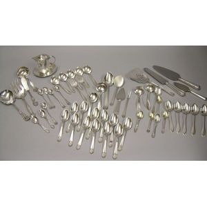 Group of Sterling and Silver Plated Flatware