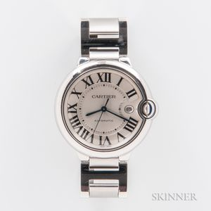 "Cartier ""Ballon Bleu"" Stainless Steel Wristwatch"