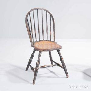 Painted Bow-back Windsor Side Chair