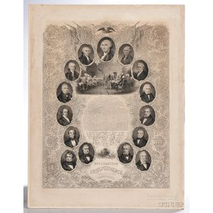 Declaration of Independence and Portraits of the Presidents
