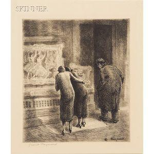 Grant Tyson Reynard (American, 1887-1967)      Art Dealers Window.