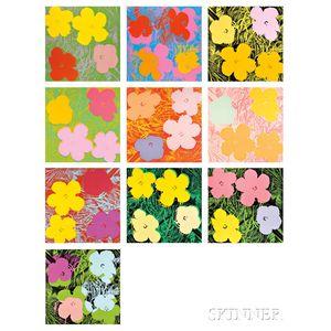 Andy Warhol (American, 1928-1987)      Flowers  /A Portfolio of Ten Works