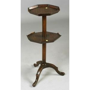 Louis XV/XVI Style Parquetry Inlaid Two-tier Stand