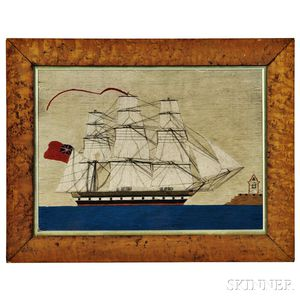 Woolwork Picture of a Sailing Vessel