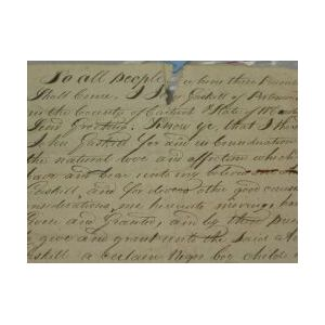 Early American Slave Deed/Gift