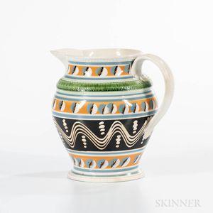 Slip-decorated Pearlware Jug