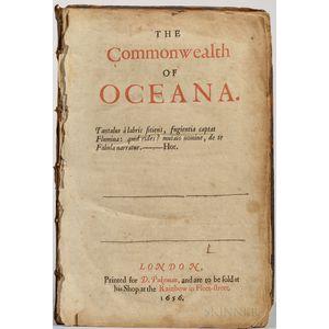 Harrington, James (1611-1677) The Commonwealth of Oceana.