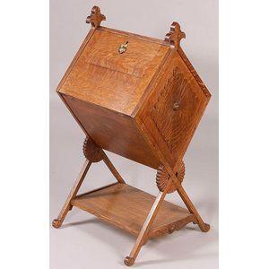 Victorian Oak Music Cabinet