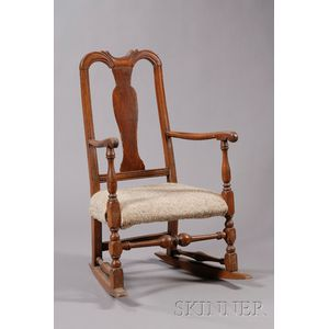Queen Anne Carved Armchair