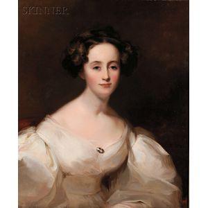 Thomas Sully (American, 1783-1872)      Portrait of Ellen Shepherd Brooks (Mrs. Gorham Brooks)