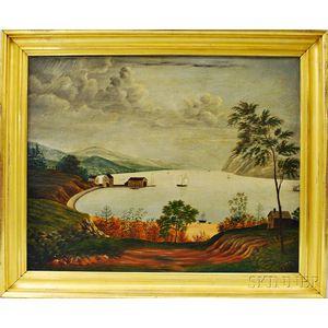 American School, 19th Century       Hudson River Landscape.
