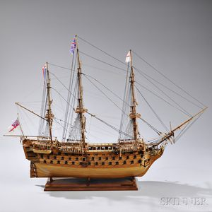 Wooden Model of the HMS Victory