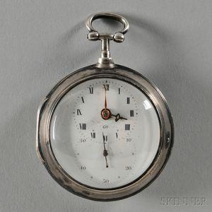 Leslie & Price Silver Pair Case Watch
