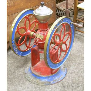 Large Painted Enterprise Mfg. Cast Iron Coffee Mill/Grinder