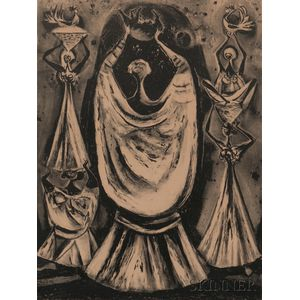 Two Framed Adolf Dehn Religious Lithographs