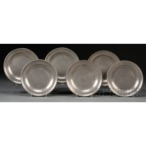Six Pewter Plates