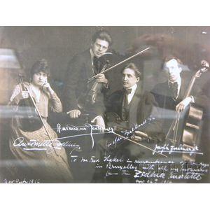 The Zoellner Quartet, New York, 1916