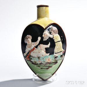 Staffordshire Pearlware Flask
