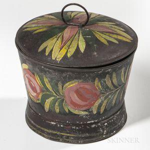 Painted Tin Sugar Bowl