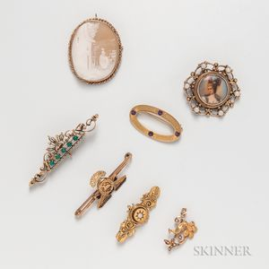 Group of Gold Brooches