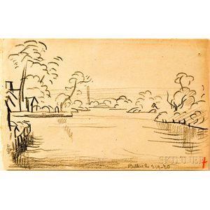 Oscar Bluemner (German, 1867-1938)      River View