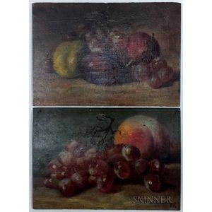 Josephine Elizabeth Bradstreet (American, 1859-1920)      Two Still Lifes with Fruit