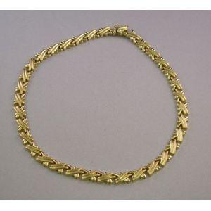 14kt Gold X Motif Necklace.
