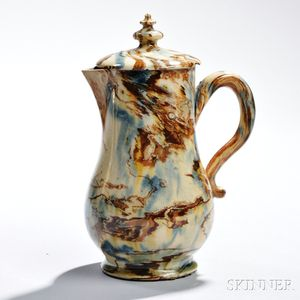 Staffordshire Solid Agate Creamer and Cover