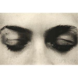 Meg Governo (American, 20th/21st Century)      Two Works: Eyes Open ;  Eyes Shut
