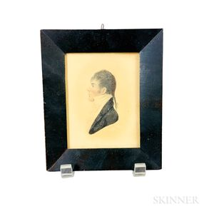 Framed Watercolor Portrait Miniature