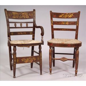 Classical Fancy Painted Armchair