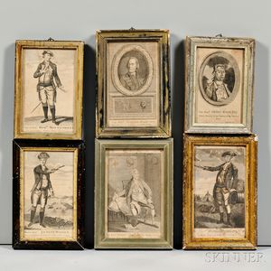 Six 18th Century Engravings of Military and Political Figures