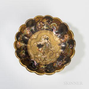 Fuzan Satsuma Scalloped Bowl