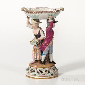 Meissen Porcelain Figural Salt Cellar
