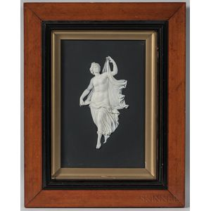 Framed Wedgwood Solid Black Jasper Plaque