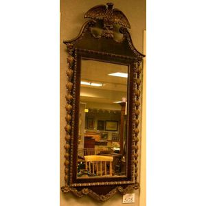 Federal-style Gilt Gesso and Mahogany Veneer Mirror