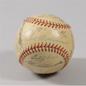 1949 Boston Red Sox Team Autographed Baseball