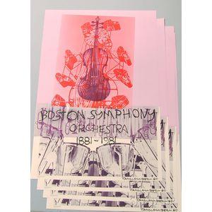 After Robert Rauschenberg (American, 1925-2008)      Four Boston Symphony Orchestra Centennial Posters.