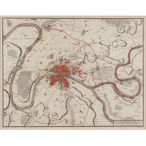 Paris. Nicolas de Fer (1646-1720) La Banlieue De Paris.
