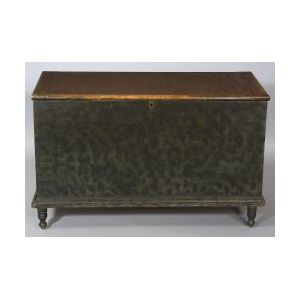 Grain Painted Poplar Dovetailed Six-Board Chest