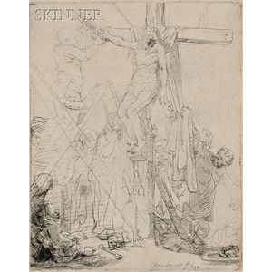 Rembrandt van Rijn (Dutch, 1606-1669)      Descent from the Cross:  A Sketch