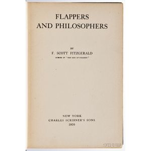 Fitzgerald, F. Scott (1896-1940) Flappers and Philosophers,   First Edition.