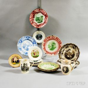Nineteen Transfer-decorated Items