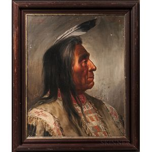 Oil on Canvas Portrait of Red Cloud