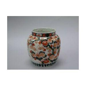 Imari Palette Porcelain Vase.