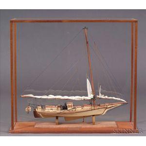 Cased Model Of The Chesapeake Bay Skipjack Willie L
