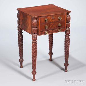 Classical Mahogany and Mahogany Veneer Worktable