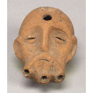 Phoenician Terracotta Musical Pipe in the Form of a Man